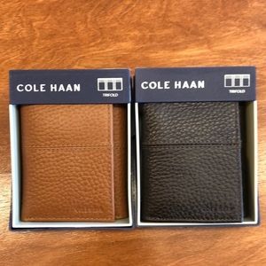 New with box! Black or Brown Cole Haan Wallet